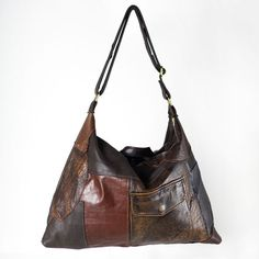 Love this, evokes '70s 4 me. reMade USA - repurpose vintage leather jackets into new one-of-a-kind handbags