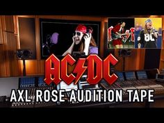 Axl Rose Auditions For AC/DC! - YouTube Music Clips, Axl Rose, Songs, Ac Dc, Humor, Learning, Youtube, Humour, Studying
