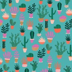naomiwilkinson:Cacti! Would love this as wrapping paper