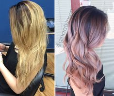 TRANSFORMATION: Low-Maintenance Dusty Pink Balayage(Dusty Rose Gold Hair)