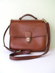 Vintage Coach, Willis Bag.  My sister-in-law gave me my first Coach bag and it looks exactly like this.  I still love it too!