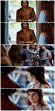 Constance & D'Artagnan - The Musketeers. #Constagnan