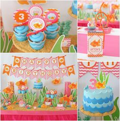 Under The Sea Party: Afton Turns 3! - Pizzazzerie