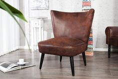 Black Bull - Retro Fauteuil Bruin Antiek   NaSmaak - meer dan design