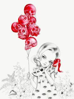 Kai Fine Art is an art website, shows painting and illustration works all over the world. Fantasy Kunst, Fantasy Art, Skull Wallpaper, Hipster Wallpaper, Arte Horror, Wow Art, Pop Surrealism, Skull And Bones, Skull Art