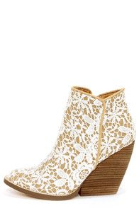 Very Volatile Tallulah White Multi Lace Ankle Boots- I just bought these!!!