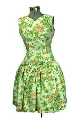 Rockabilly 1950's Mod-O-Day of California, Sunflower Cotton Dress #1950cottondress #vintagefashion #rockabilly