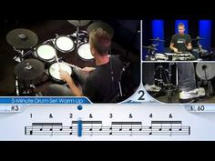 Drum-Set Warm-Up (Intermediate) - Drum Lesson Learn Drums, How To Play Drums, Drum Lessons, Music Lessons, Online Sheet Music, Drummer Quotes, Drums Logo, Drum Music, Book Boyfriends
