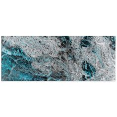 'Storm Turquoise' by Emley Painting Print Plaque