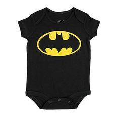 3ca591ba4 DC Comics Batman Logo Onesie Romper Months, Black) Baby Infant sizes  Months) Officially Licensed DC Comics apparel Classic Batman logo Perfect  for your ...