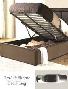 #EBCO - Pro Lift - #Electric #BedFitting With Remote Control  #smart #electric #easetoaccess #comfort #livsmart #elegant  For further details, WALKIN to our #DisplayCentre - L'Atelier #MultiBrandShowroom in #Kormangala 5th Block OR Call us at +91 81231 13218 or 080 2550 3345 / 72 for more information