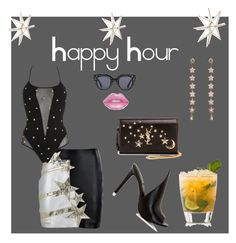 """""""Happy Hour After Dark"""" by digsystuff on Polyvore featuring Uttermost, Faith Connexion, PIN UP STARS, Gucci, Yves Saint Laurent, Kendall + Kylie and Lime Crime"""