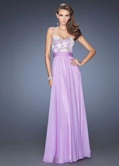 Ice Purple La Femme 20001 Layered A Line Chiffon Prom Dress [La Femme 20001]