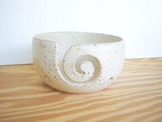 Pottery Yarn Bowl Ceramic in Satin Oatmeal Glaze by dorothydomingo