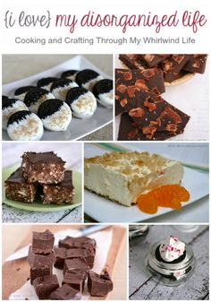 Six No-Bake Recipes from {i love} my disorganized life