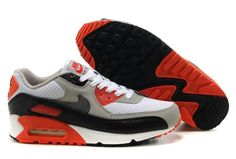 2af41e22d7 Nike Air Max 90 White Black Neutral Grey Red