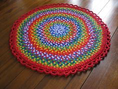 Colorful Braided Rug from upcycled cotton