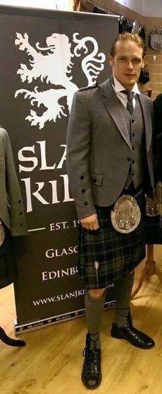 Sam looks fantastic in a kilt!                                                                                                                                                      More