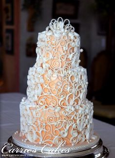 {Quilled} wedding cake | created by Carries Cakes