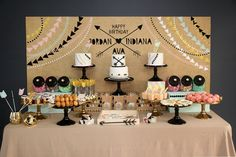 Aztec Tribal Lolly and Cake Table Birthday Party