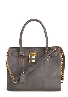 Full Course Load Bag in Charcoal and Gold Hardware from #Modcloth #poachit