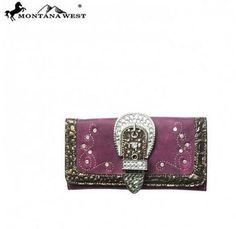 BUCKLE WALLET - PURPLE