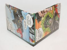Comic Book Wallet// JLA// Flash (Wally West), Batman, and Green Lantern Kyle Rayner, $3.50