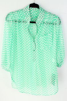 mint sheer chevron