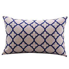 Trellis White Cotton/Linen Decorative Pillow Cover – SEK Kr. 112