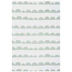 Ferm Living Half Moon Wallpaper - Mint & White Moon Wallpaper, Confetti Wallpaper, Wallpaper Off White, Feature Wallpaper, Minimalist Scandinavian, Scandinavian Interior Design, Mint Vans, Wall Patterns, Contemporary Design