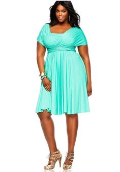 plus size dress aqua blue - Google Search