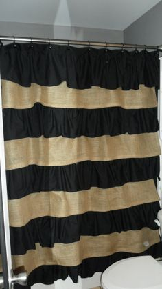 Burlap and Cotton Ruffle Shower Curtain OMG love!