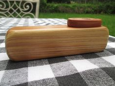 Handmade wooden Kazoo, with the saying Father of the Bride. The body wood is Redwood, the top is Cedar. The screws are made out of brass. Size approx. 5 1/16 inch long x 1 5/8 inch tall x 1 1/4 wide. Available on Etsy at Spuzzowoodworking.com