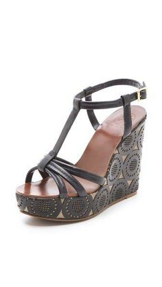 6394836964f1  Tory Burch Ida Wedge Sandals Tory Burch Sandals