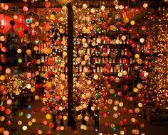 Thai lanterns - a weekend experiment Ribbon Curtain, Disco Theme, All Of The Lights, Xmas Lights, Beaded Curtains, Light Installation, Inspired Homes, Colour Schemes, Winter Holidays