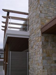 Coolum Random Ashlar Stone: Wall Cladding by Eco Outdoor Stone Feature Wall, Stone Veneer, Wall Cladding, Blade, Walls, Exterior, Random, Outdoor Decor, House
