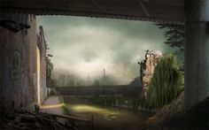 suzanne moxhay photomontage matte painting