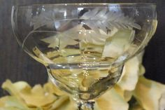 Crystal Stemware  Vertical Optic Paneled  Etched  by DinneratSeven