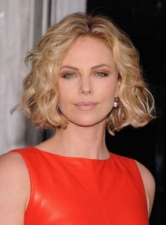 Charlize Theron Jaw Length Bob Hairstyle with Waves