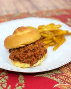 Salsa Sloppy Joes - hamburger meat, tomato soup, and salsa - super quick. Our favorite sloppy joe recipe! Fun change to taco night!