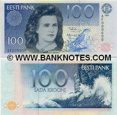 estonia currency | Estonia 100 Krooni 1991 - Estonian Currency Bank Notes, Paper Money ...