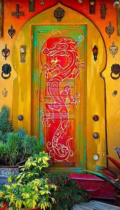 DOOR, DRAGON PAINTING