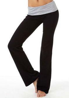 Essenital Foldover Yoga Pant- Heather Gray - View All Pants - Pants - Clothing - Alloy Apparel