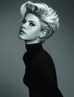 Short Hairstyles for women - blonde Edgy Funky Look. for 2015.
