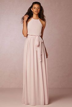 Mix Boho Bridesmaid Romance with a Touch of Chic Sparkle ♥ This collection of chic, romantic bridesmaid dresses from Donna Morgan's new Serenity collection is right on trend. It combines three of the hottest bridesmaid trends at the moment: beautiful boho Romantic Bridesmaid Dresses, Wedding Bridesmaids, Pink Bridesmaid Dresses Long, Girls Dresses, Prom Dresses, Wedding Dresses, Vestidos Off White, Perfect Prom Dress, Vanessa Hudgens