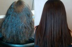 Before and After Keratin Treatment - Axle Color Studio   https://www.facebook.com/AxleColorStudio