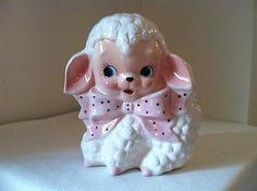 Vintage 50's Rubens Original 542 Curly Lamb Baby Nursery Planter made in Japan