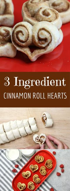 3 Ingredient Cinnamon Roll Hearts recipe is a great recipe for Valentine's Day! Whether you're making something for a special someone, or frankly just for yourself lol, here is something cute, fun and easy! Cinnamon Roll Hearts only require 3 ingredients and will be ready within a half hour…