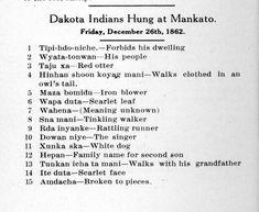 The Trials & Hanging | The U.S.-Dakota War of 1862