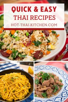 Authentic, tasty Thai dishes don't have to be complicated. Here are quick and easy Thai recipes that you can pull off on a weeknight. With full video tutorials you're guaranteed to be successful at creating your favourites at home! | how to make easy Thai recipes |how to cook easy Thai food | Authentic Asian Food recipes | Asian inspiration Easy Thai Recipes, Tasty Thai, Thai Dishes, Quick Meals, Allrecipes, Make It Simple, Cooking, Hot, Fast Meals